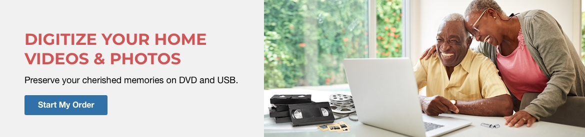 Preserve your cherished memories on DVD and USB.