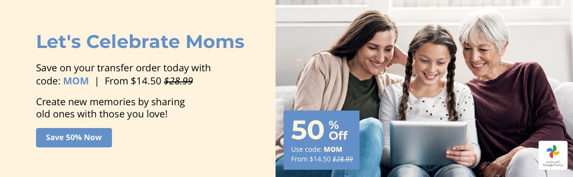 Save 50% Off with code MOM.